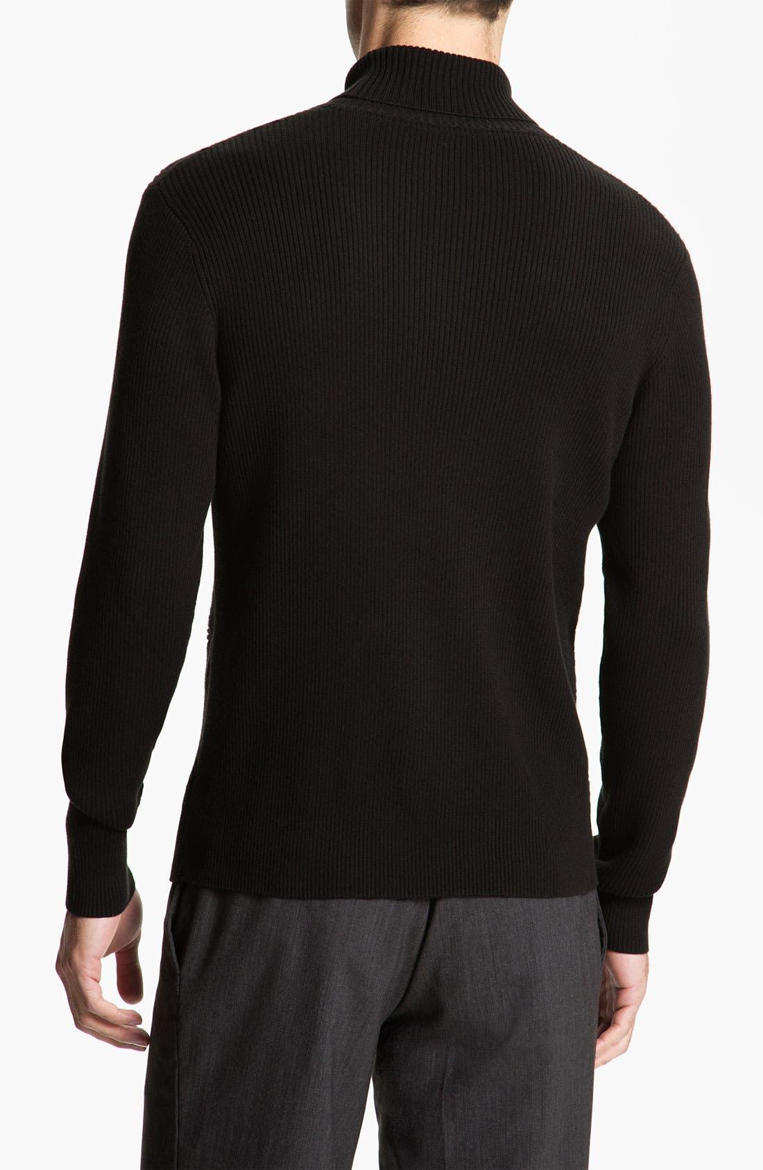 Alternate Image 2  - Calibrate Cross Ribbed Cotton & Cashmere Turtleneck Sweater