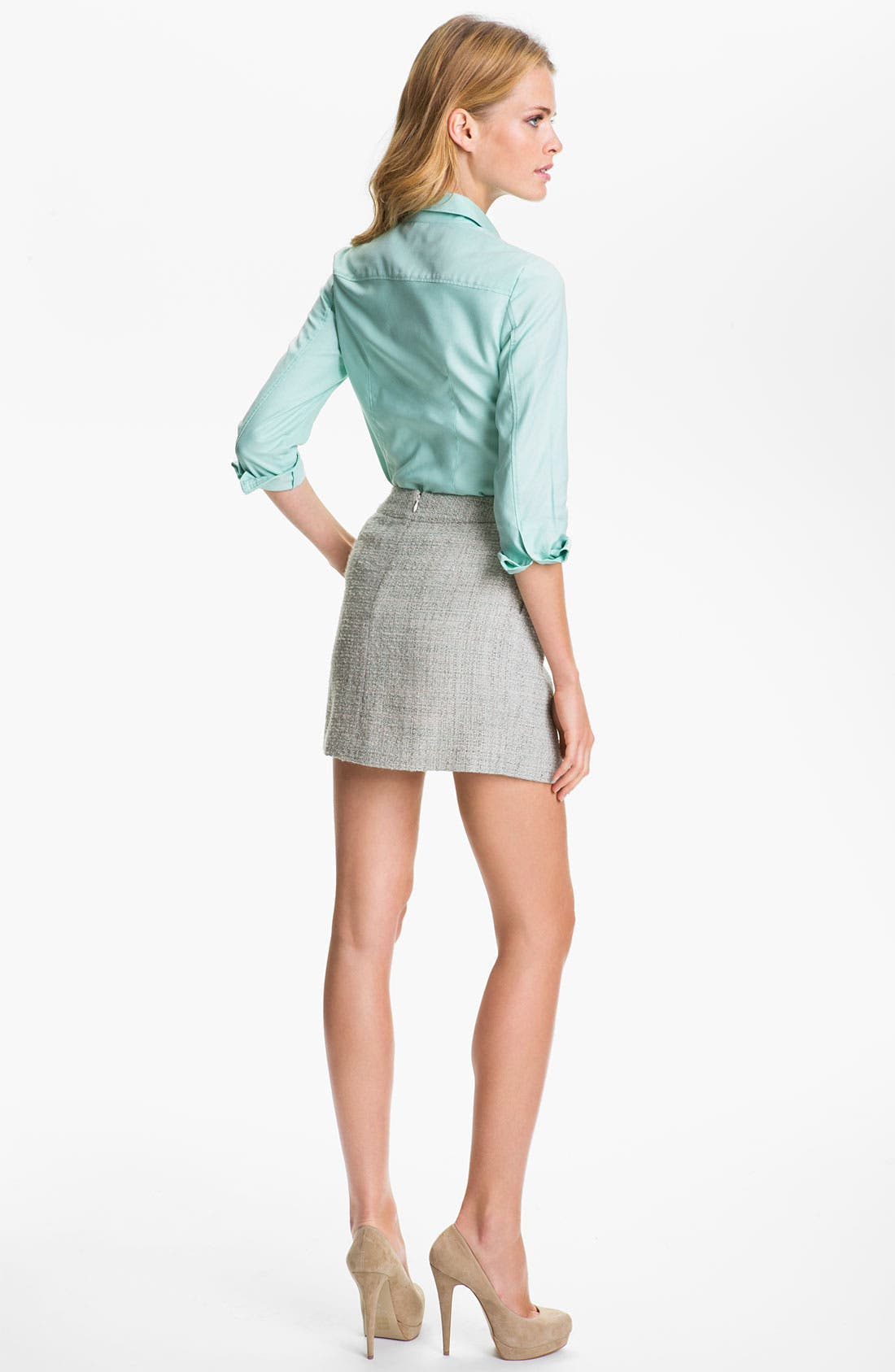 Alternate Image 4  - Theory 'Chablis' Tweed Miniskirt (Online Exclusive)