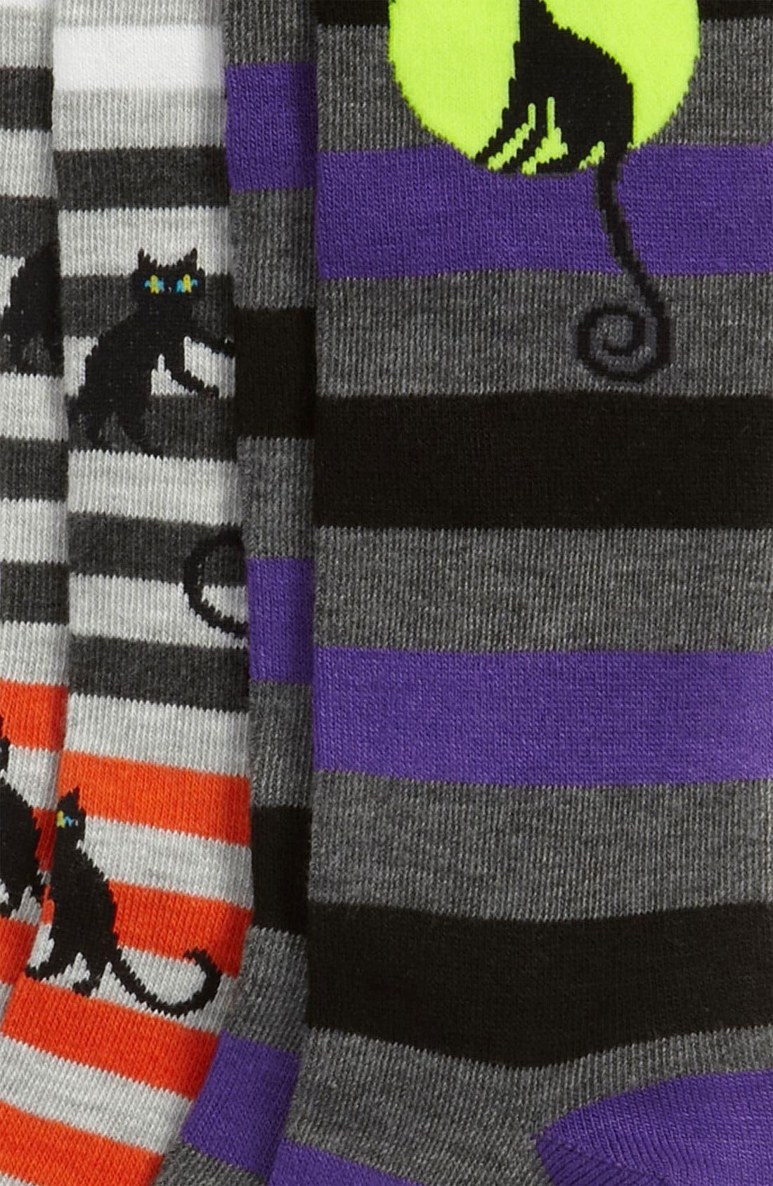 Alternate Image 2  - Nordstrom 'Moonlight Cat' Knee High Socks (2-Pack) (Toddler, Little Boys & Big Boys)