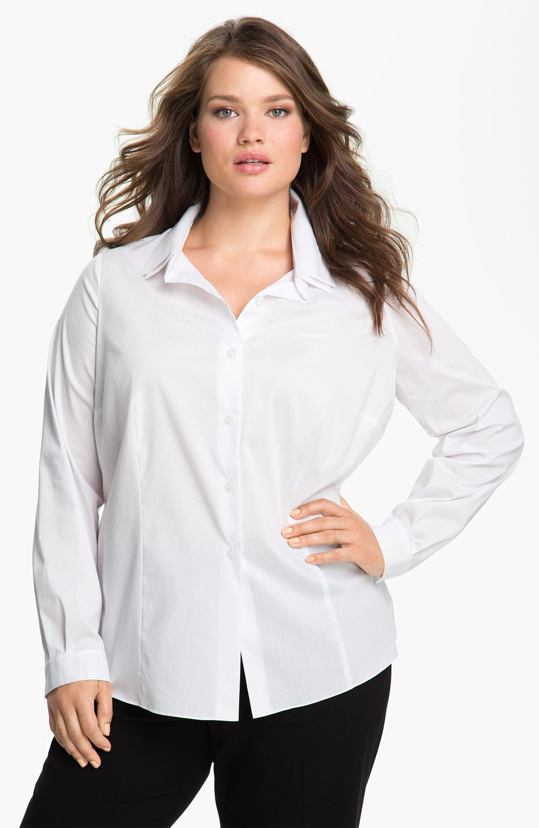 Main Image - Tahari Woman 'Jaden' Shirt (Plus)