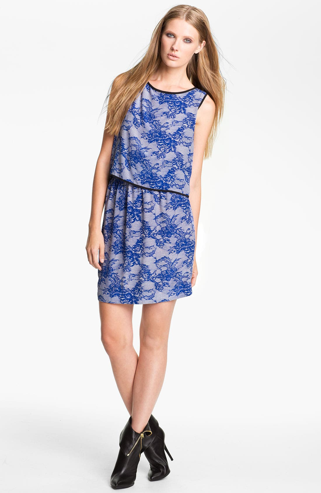 Alternate Image 1 Selected - Cut25 Lace Print Dress