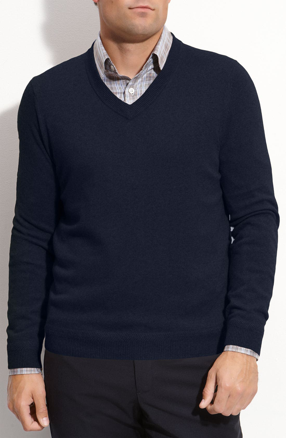 Alternate Image 1 Selected - John W. Nordstrom® V-Neck Cashmere Sweater