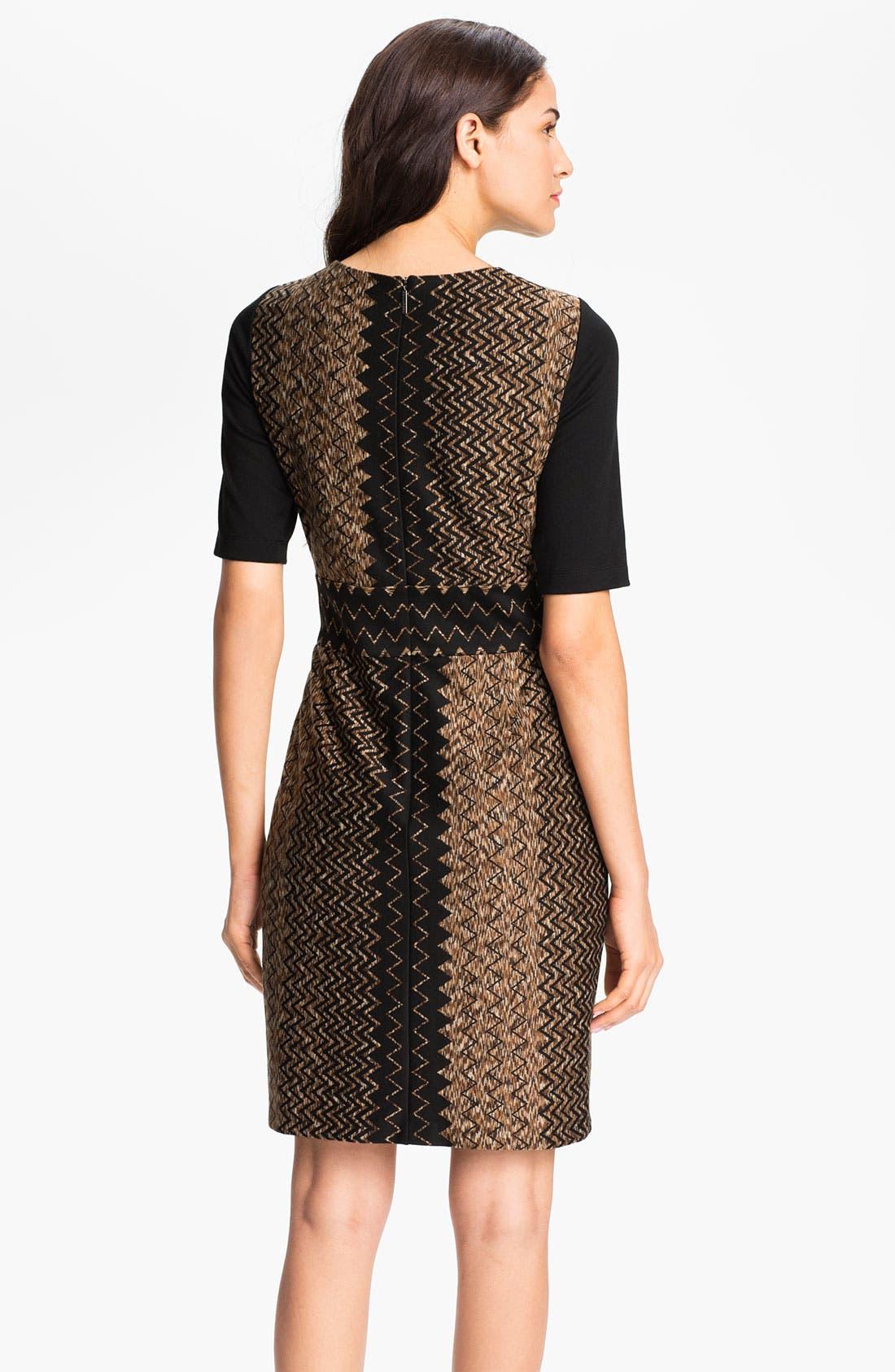 Alternate Image 2  - Donna Ricco Zigzag Print Sheath Dress