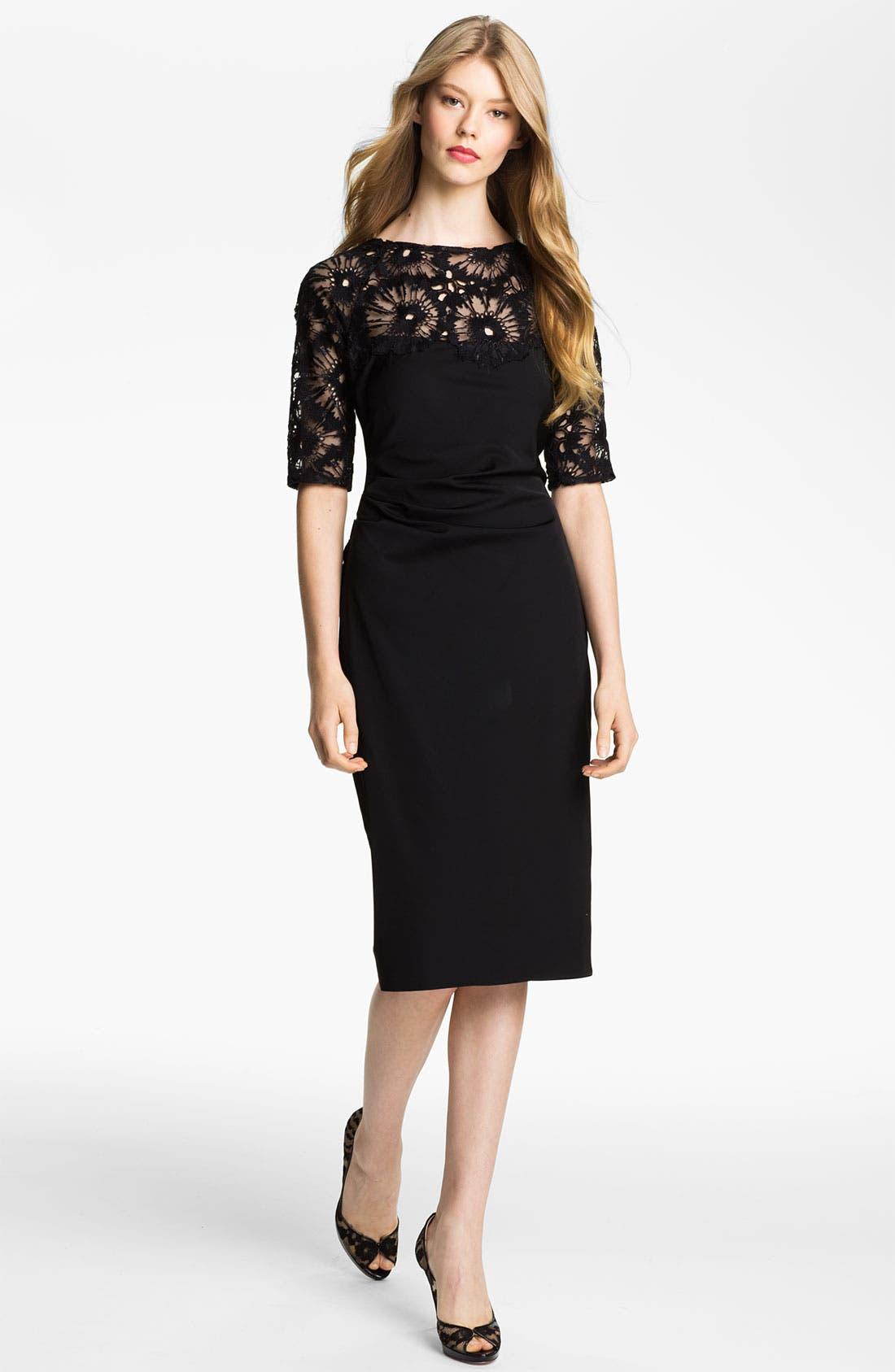 Alternate Image 1 Selected - Lela Rose Side Ruched Dress