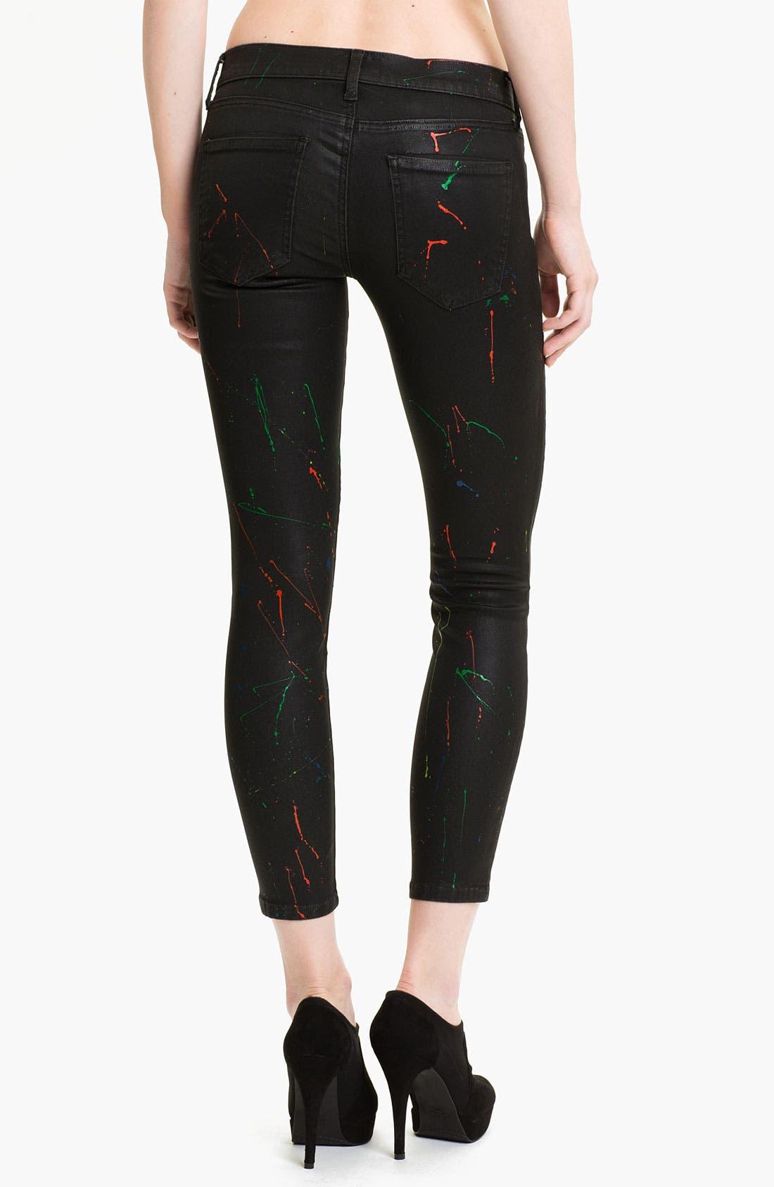 Alternate Image 2  - Current/Elliott 'The Stiletto' Print Skinny Jeans (Neon Splatter)