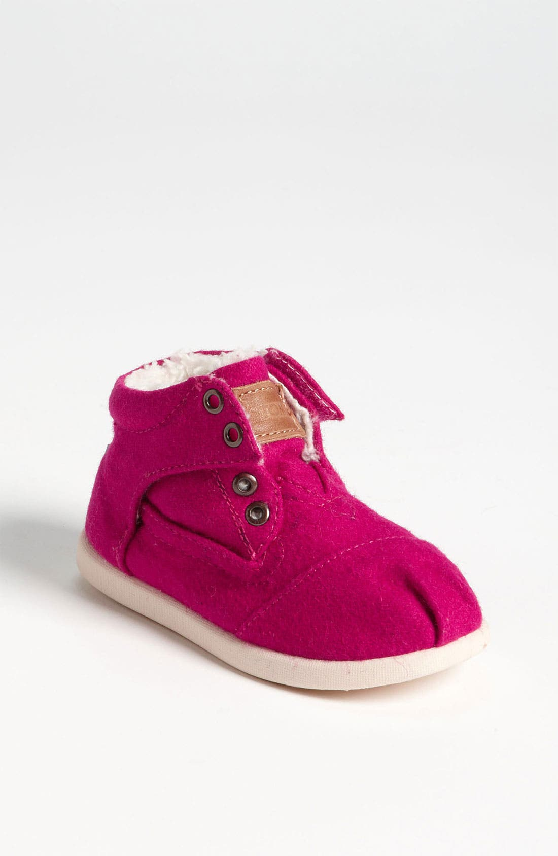 Main Image - TOMS 'Botas - Tiny' Wool Boot (Baby, Walker, Toddler)