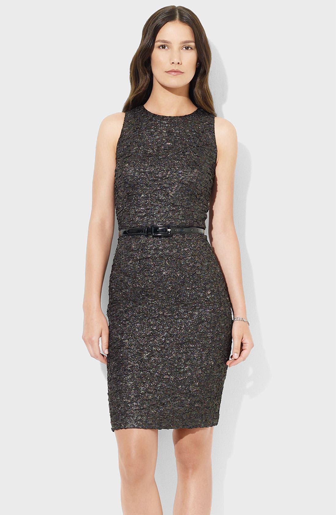 Main Image - Lauren Ralph Lauren Textured Crepe Sheath Dress