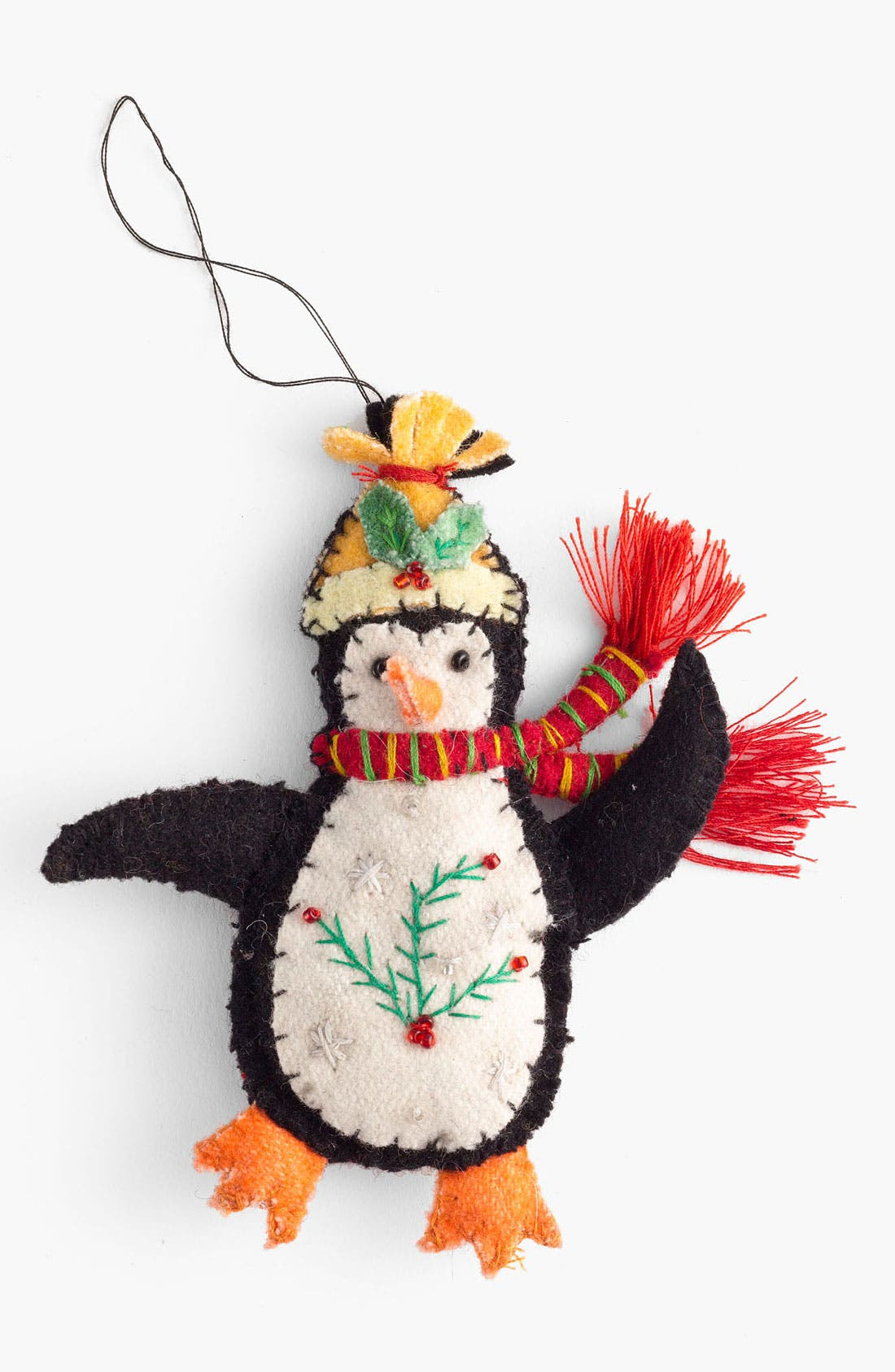Alternate Image 1 Selected - New World Arts 'Puffy Penguin' Ornament