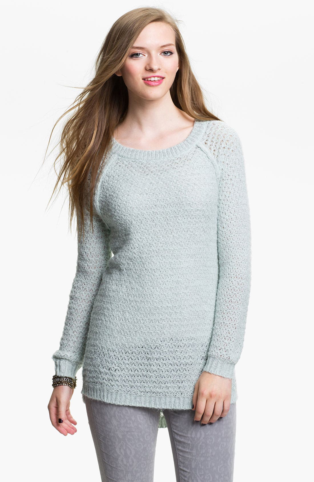 Alternate Image 1 Selected - Frenchi® Airy Oversized Sweater (Juniors)