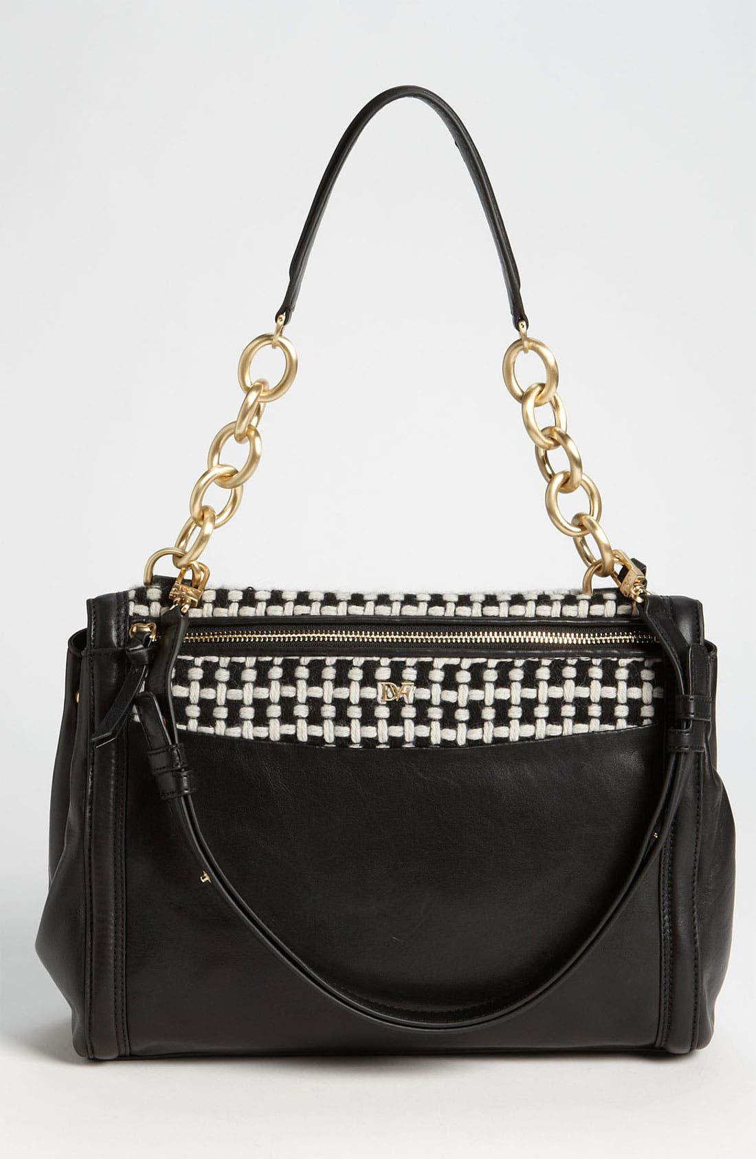 Alternate Image 4  - Diane von Furstenberg 'New Harper' Check Wool  Shoulder Bag