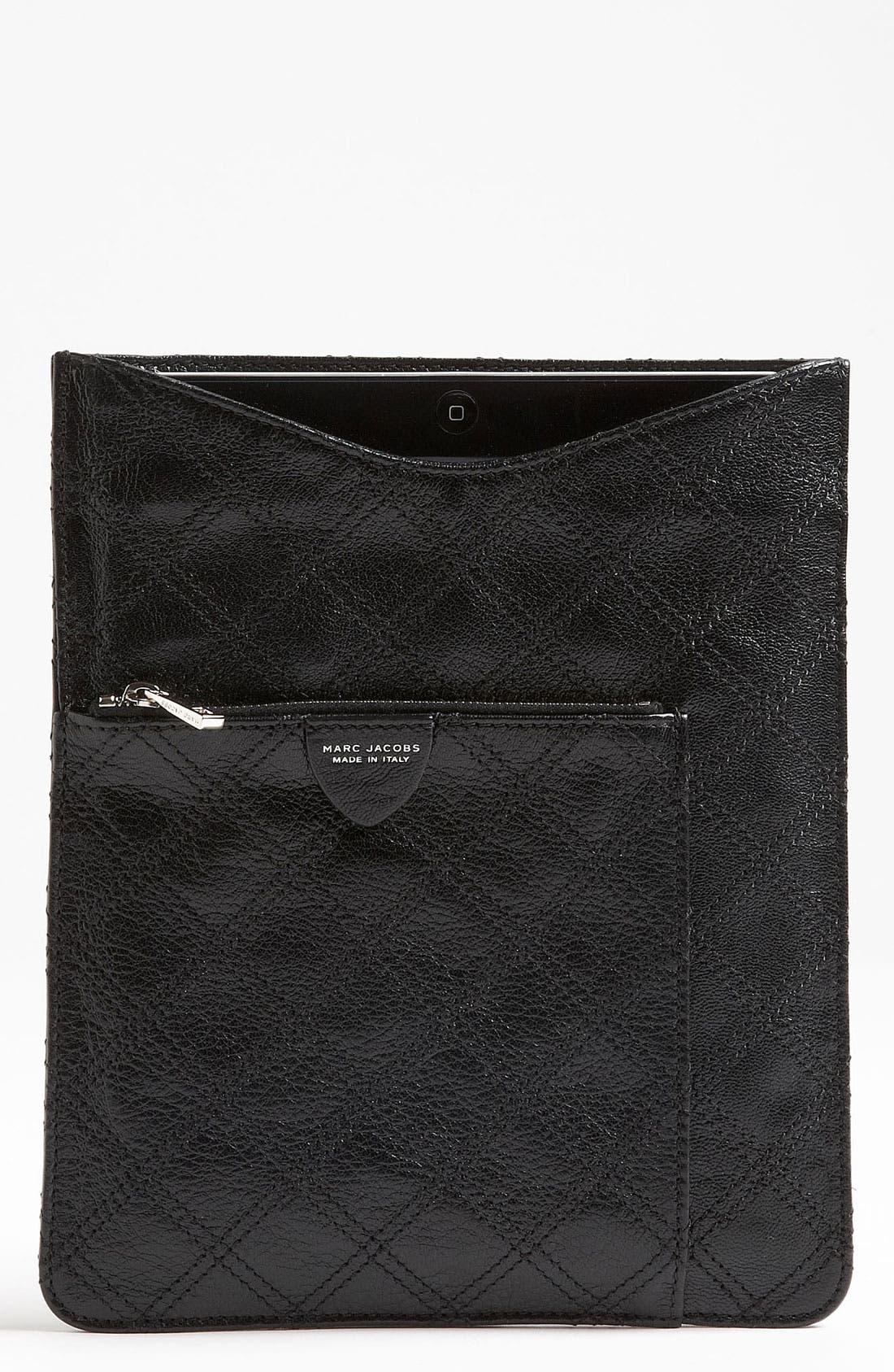 Main Image - MARC JACOBS Leather iPad Sleeve