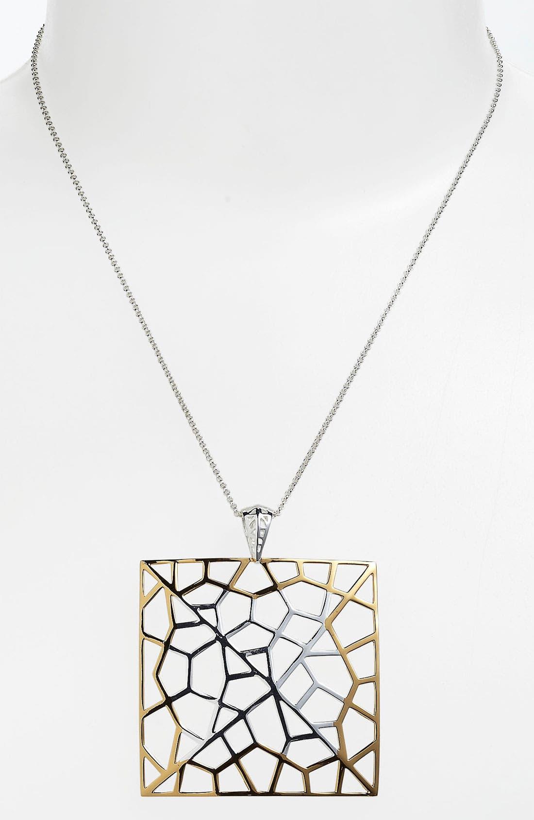 Alternate Image 2  - Argento Vivo 'Prism' Large Square Pendant Necklace
