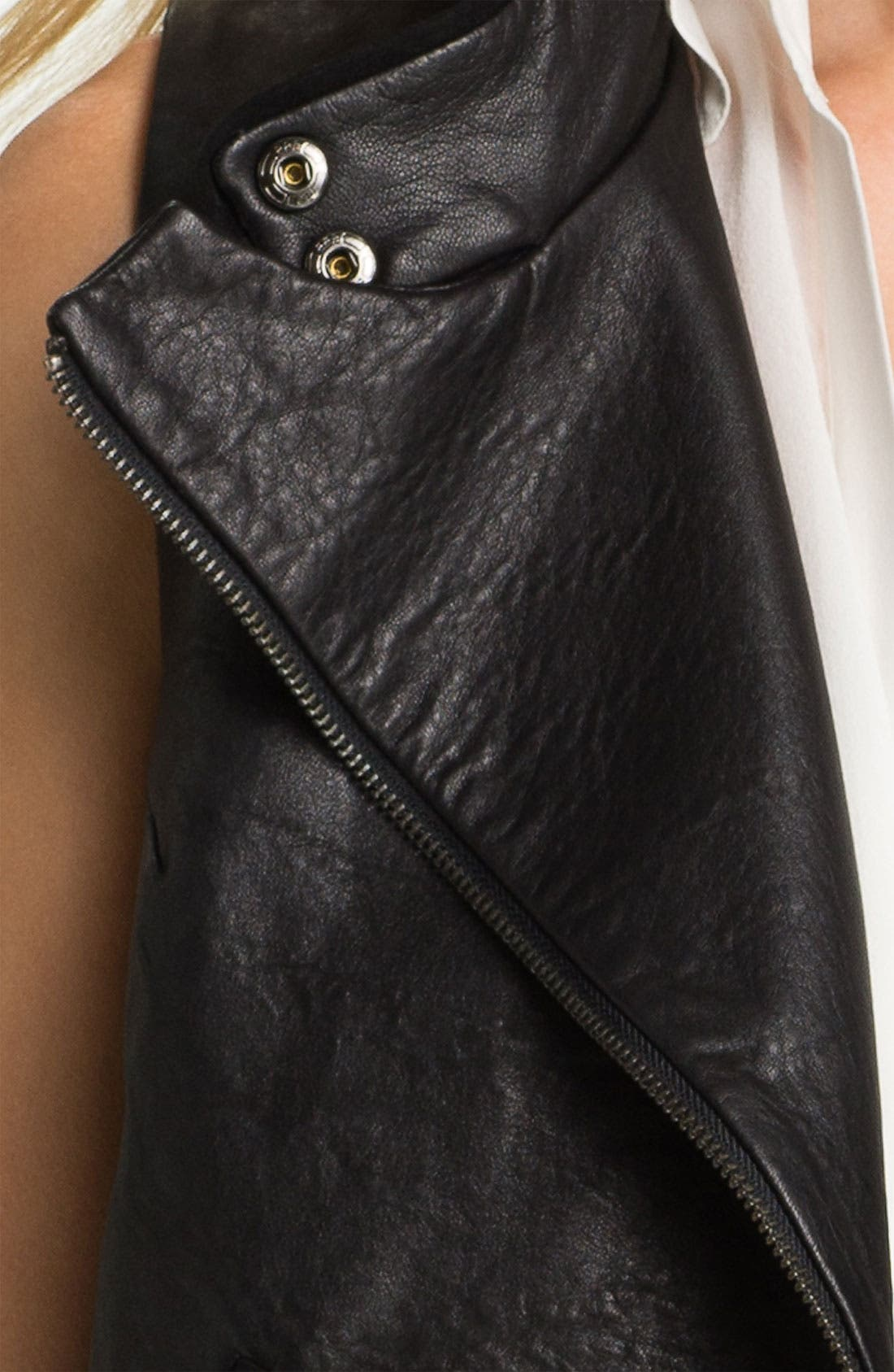 Alternate Image 3  - Two by Vince Camuto Zip Back Leather Vest