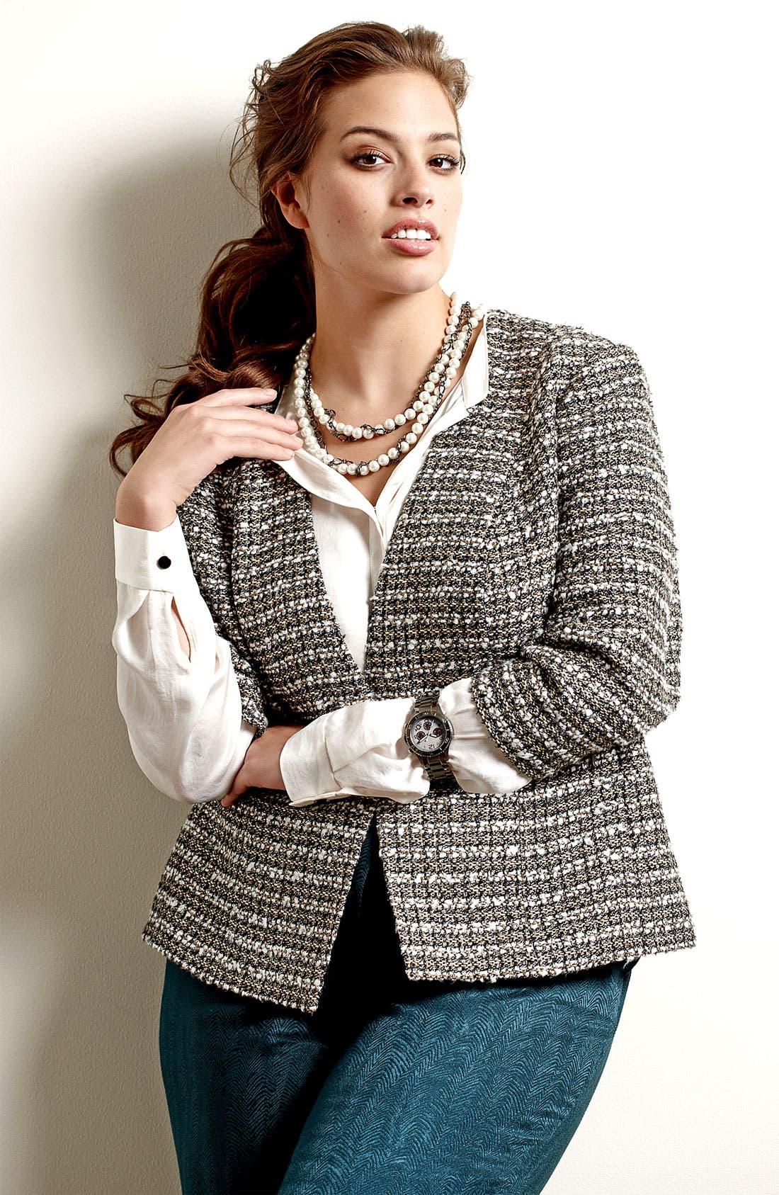 Alternate Image 5  - Sejour Tweed Jacket (Plus)