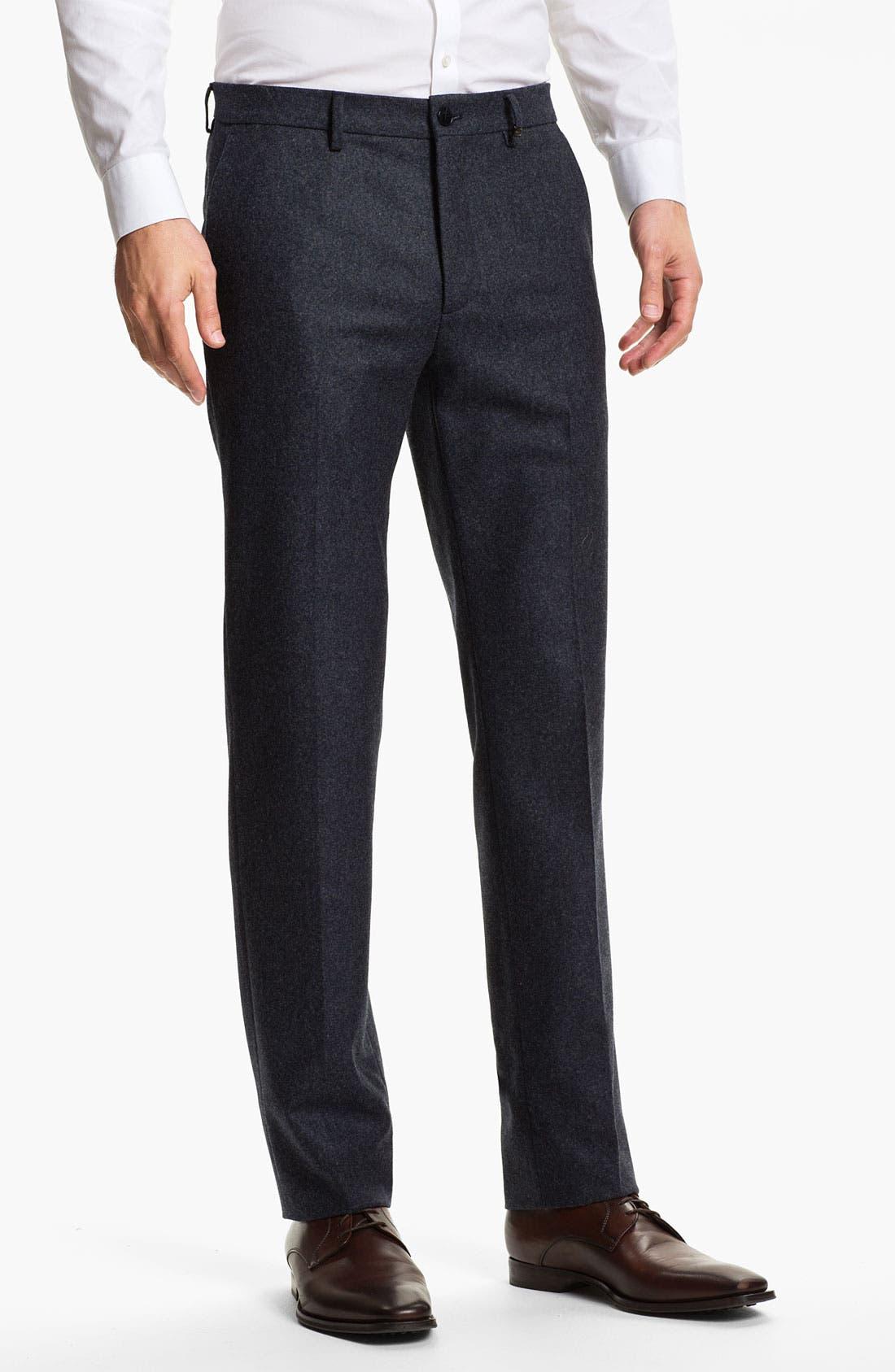 Alternate Image 1 Selected - Salvatore Ferragamo Wool Trousers