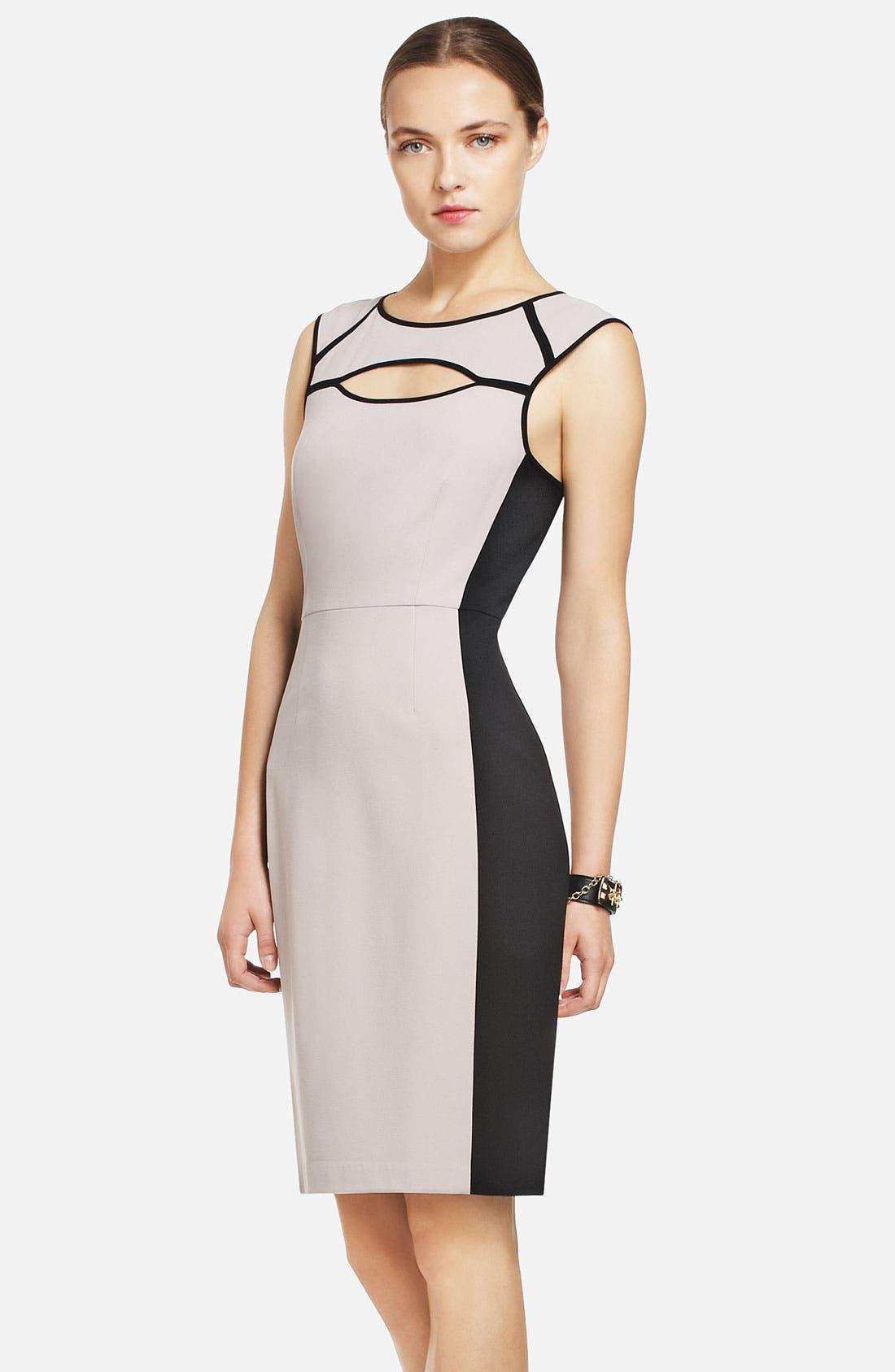 Main Image - BCBGMAXAZRIA Colorblocked Sheath Dress