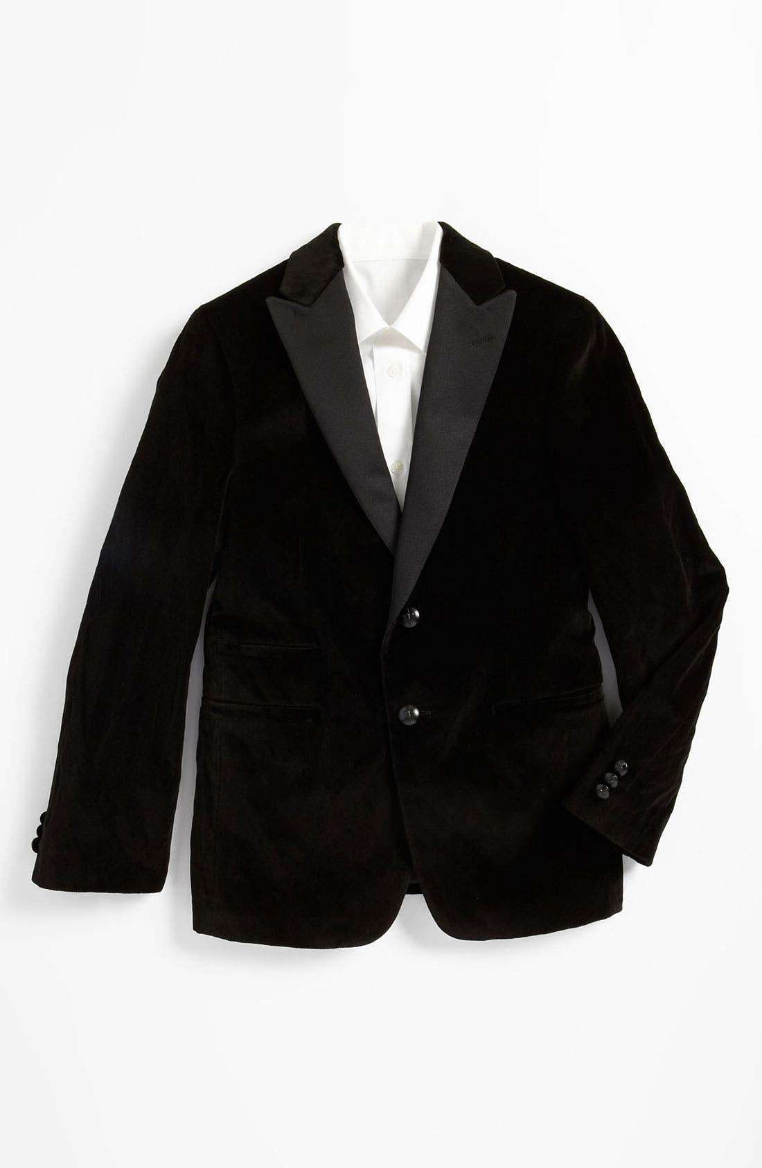 Alternate Image 1 Selected - John Varvatos Star USA Velvet Sportcoat (Big Boys)