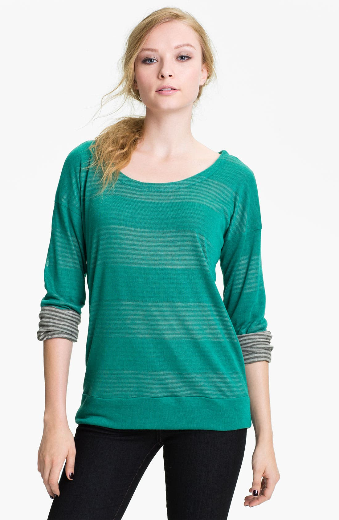 Alternate Image 1 Selected - Splendid Double Knit Stripe Top