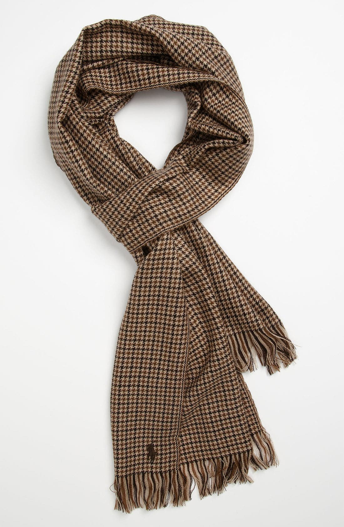 Main Image - Polo Ralph Lauren Houndstooth Wool Scarf