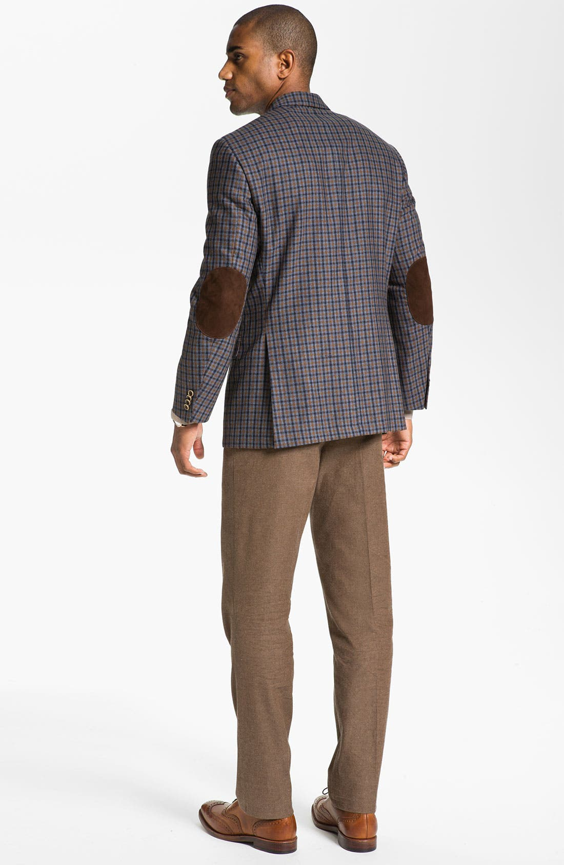 Alternate Image 5  - Peter Millar Flat Front Cotton Trousers
