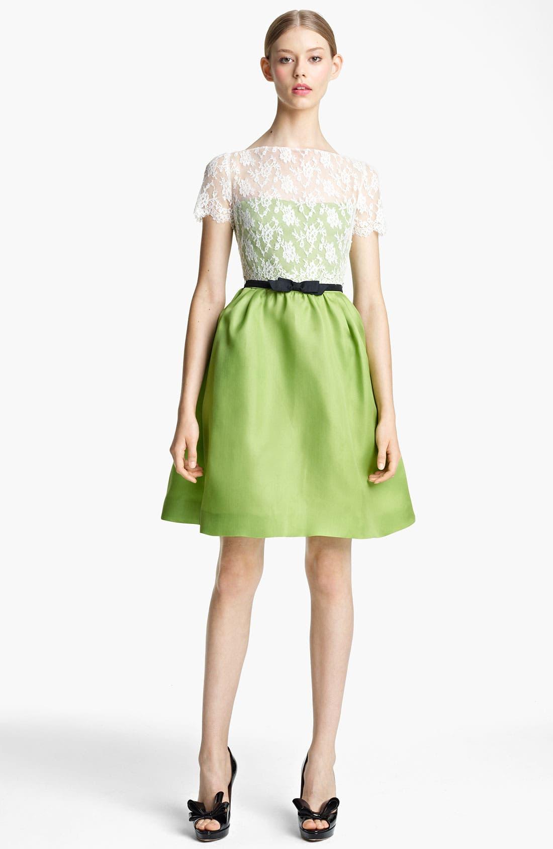 Main Image - Valentino Lace & Organza Dress