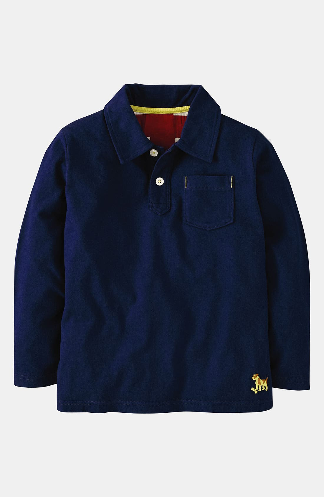 Alternate Image 1 Selected - Mini Boden Jersey Polo (Toddler)