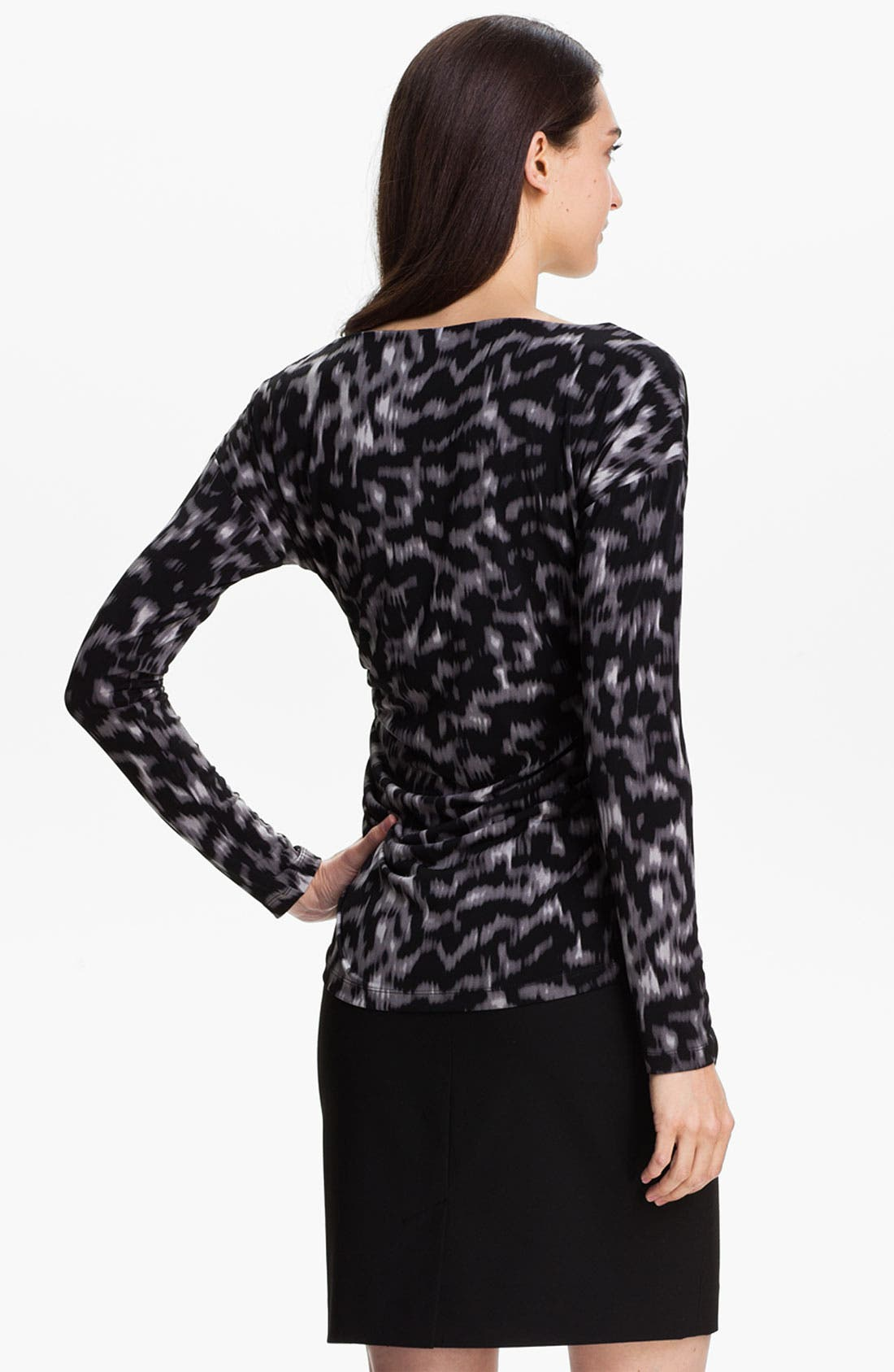 Alternate Image 2  - Vince Camuto Ruched Bateau Neck Top