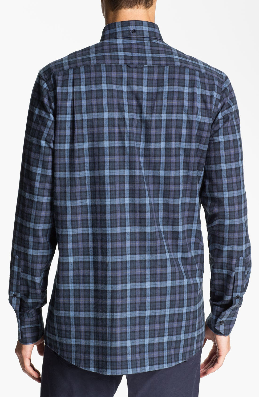 Alternate Image 2  - Nordstrom Regular Fit Cotton Flannel Shirt