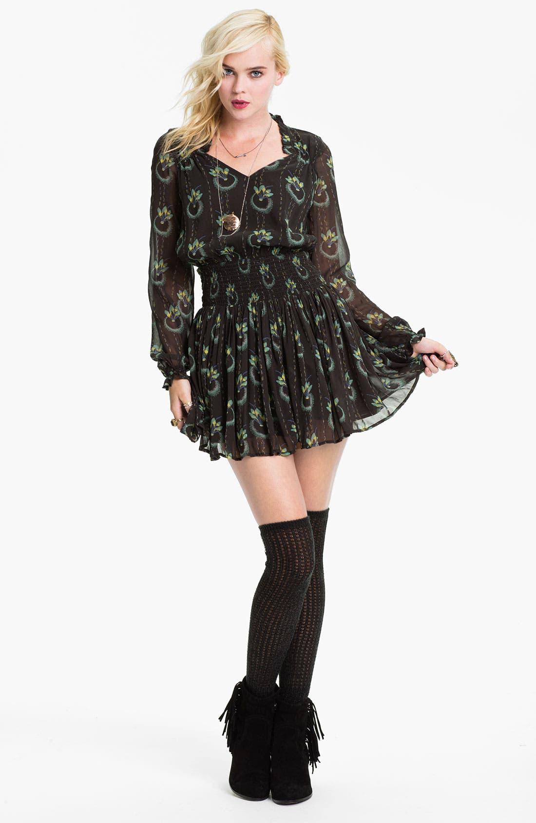 Alternate Image 1 Selected - Free People 'Wildflower' Print Gauze Dress