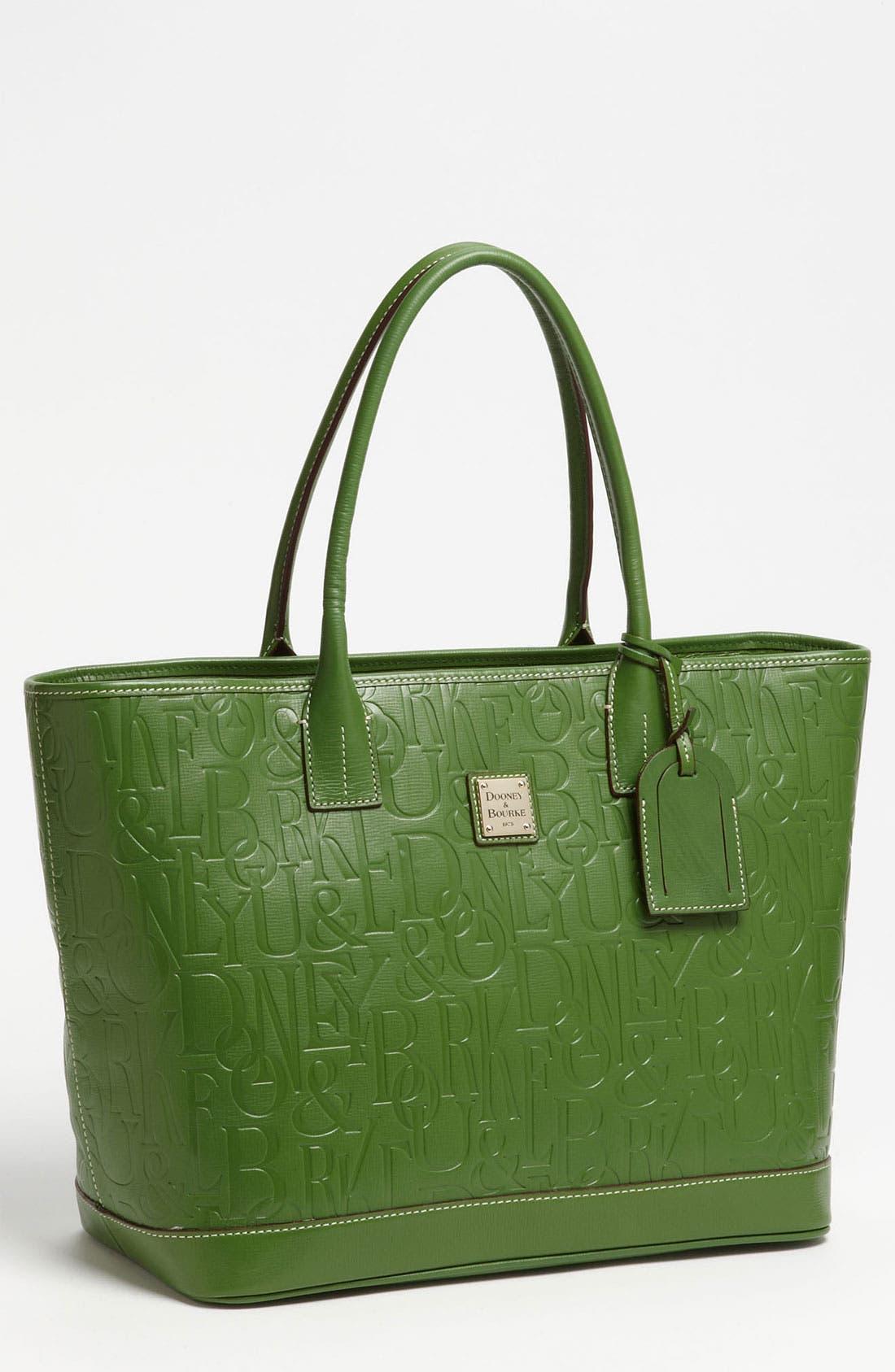 Alternate Image 1 Selected - Dooney & Bourke 'DB Retro - Medium Russel' Embossed Leather Tote