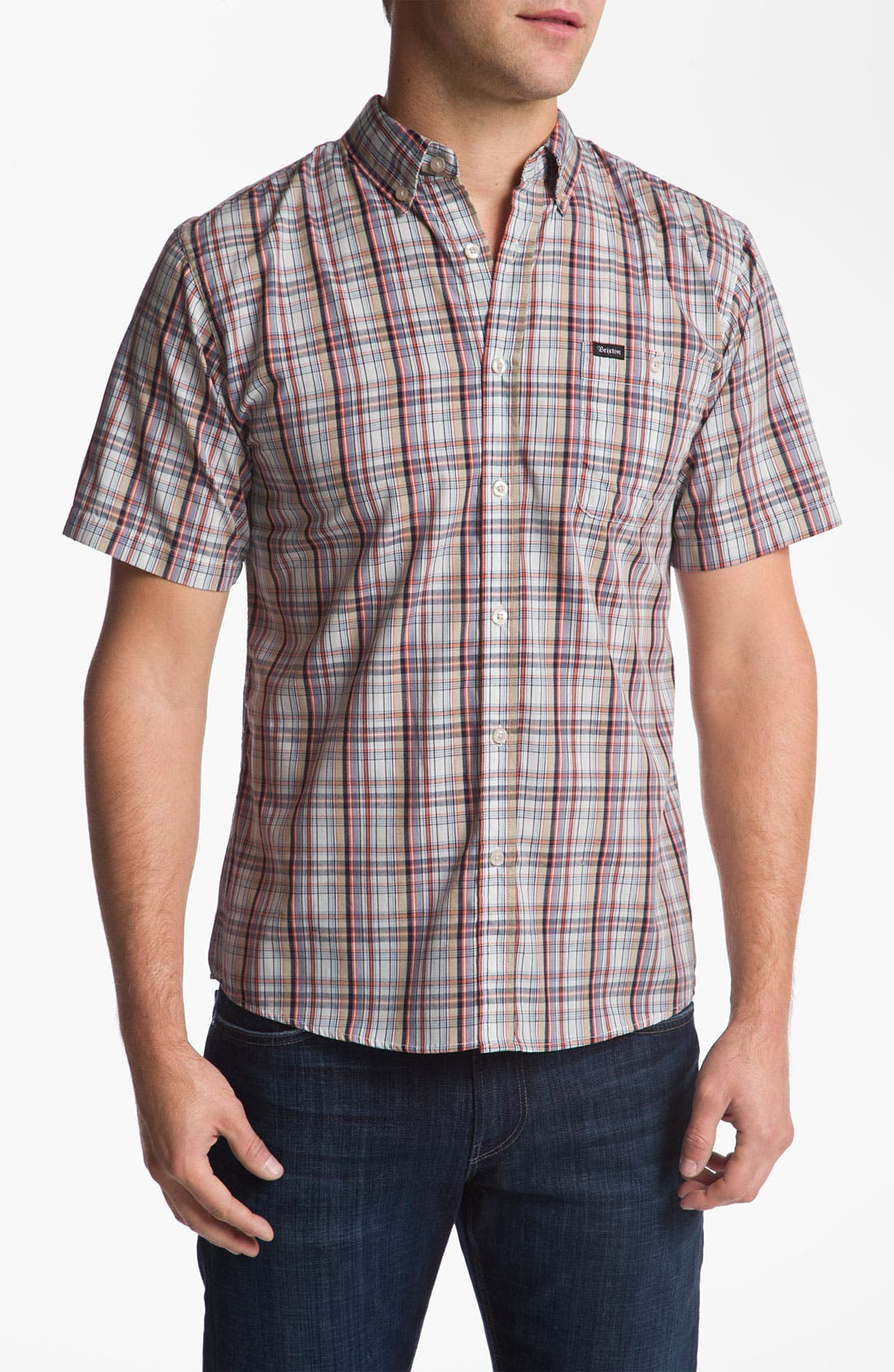 Alternate Image 1 Selected - Brixton 'Howl' Short Sleeve Woven Shirt