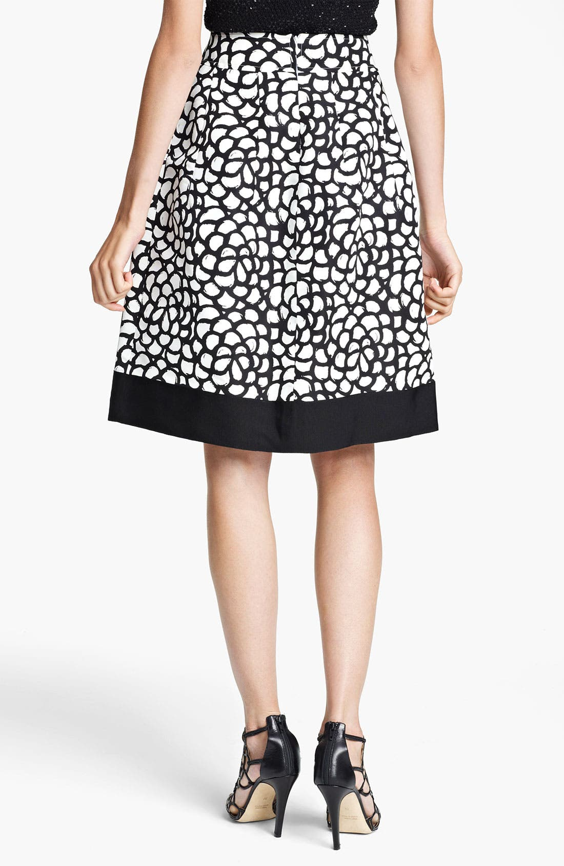Alternate Image 2  - Oscar de la Renta Print Pleated Skirt