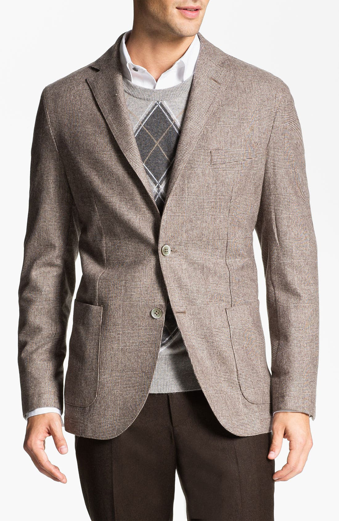 Alternate Image 1 Selected - Lubiam 'Prince of Wales' Wool Sportcoat