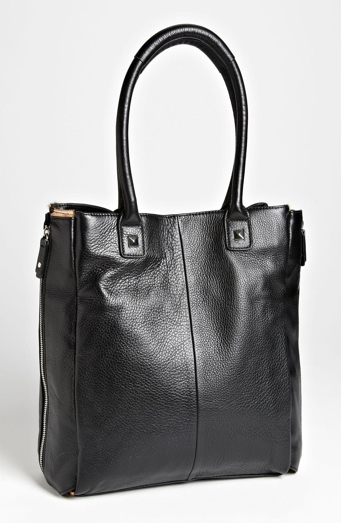 Alternate Image 5  - Halogen® Calf Hair Zip Out Leather Tote