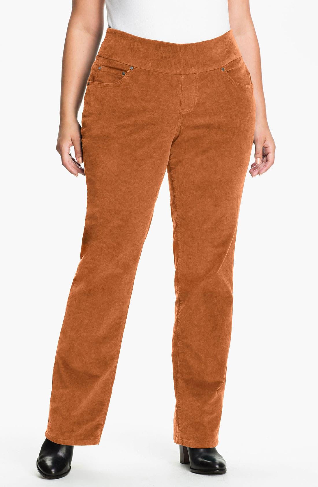 Main Image - Jag Jeans 'Peri' Straight Leg Corduroy Pants (Plus)
