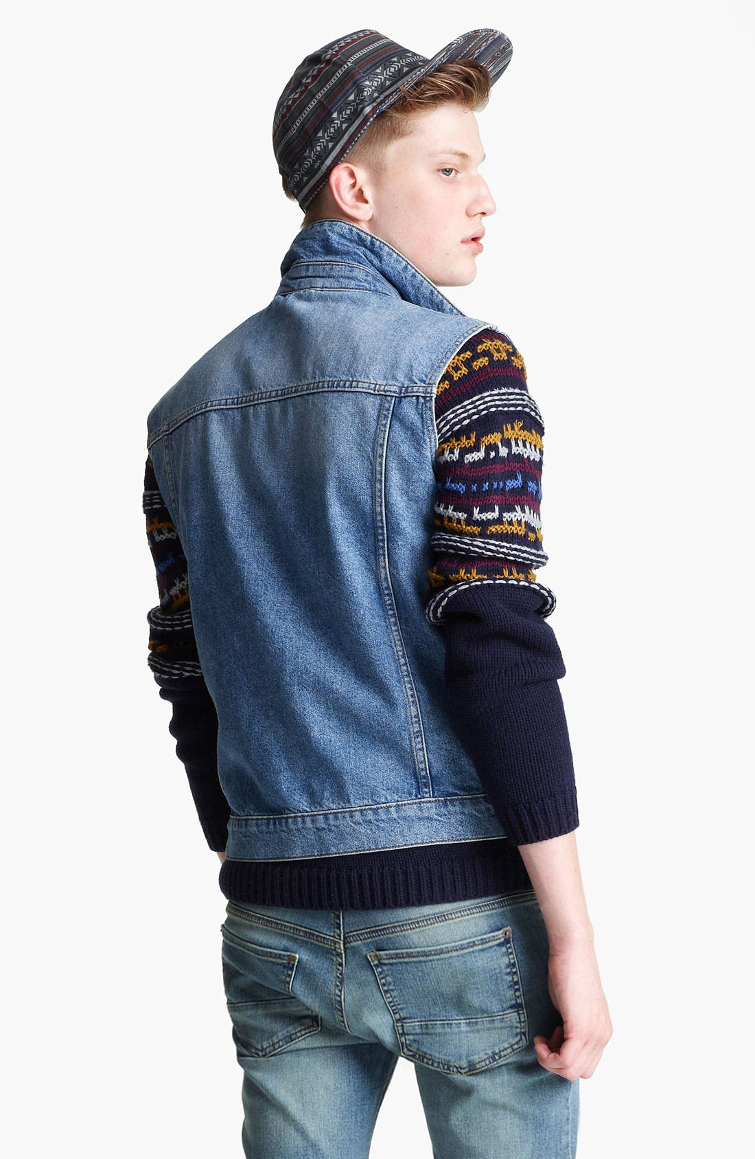 Alternate Image 2  - Topman Denim Vest