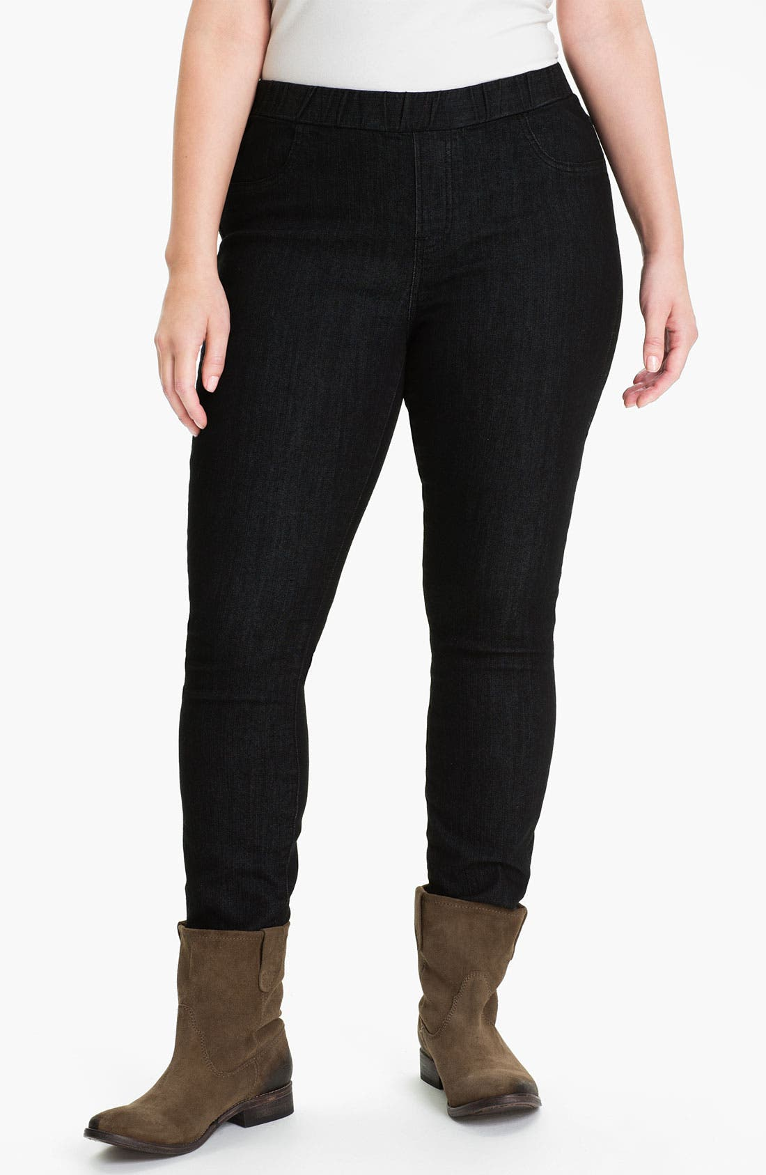 Alternate Image 1 Selected - Lucky Brand Leggings (Plus)