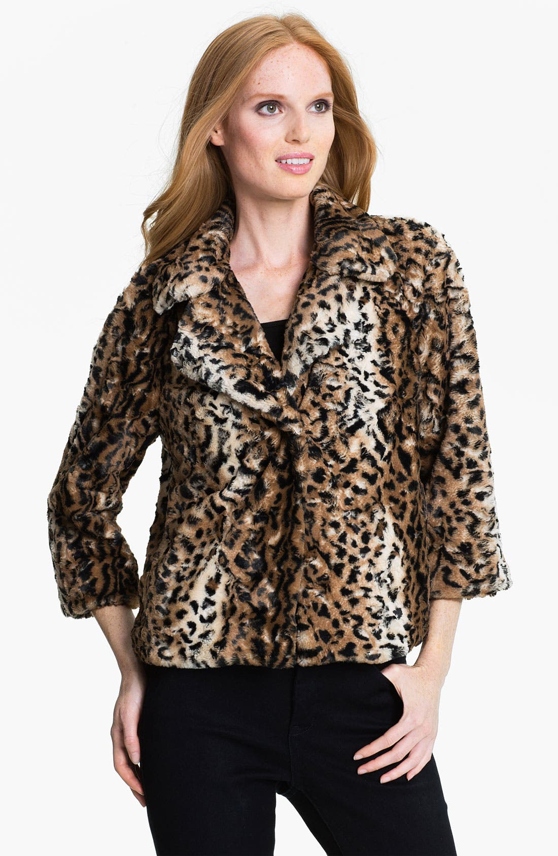 Alternate Image 1 Selected - Chaus Faux Leopard Fur Jacket
