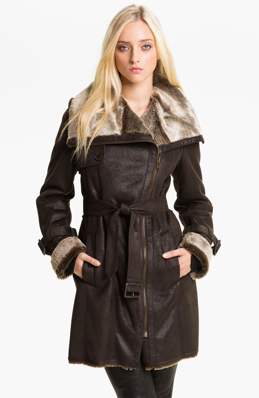 Alternate Image 1 Selected - Marc New York by Andrew Marc Faux Shearling Coat