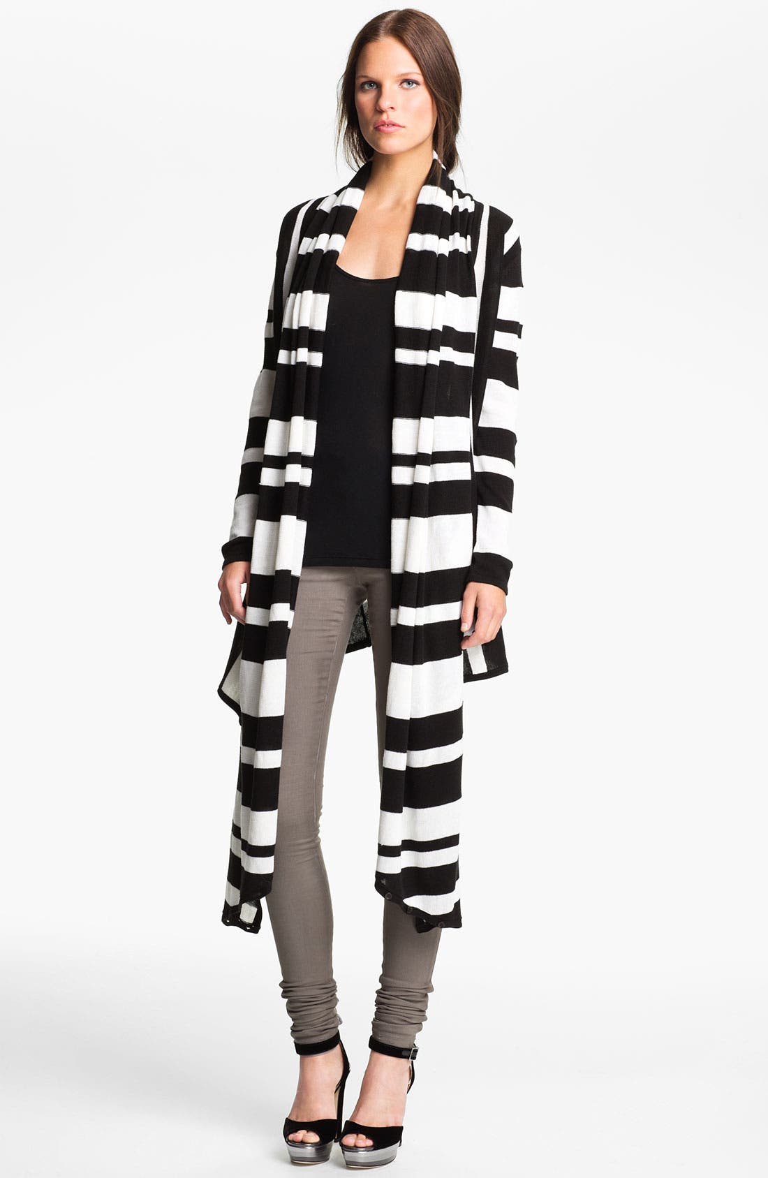 Alternate Image 3  - Alice + Olivia Two Tone Drape Front Cardigan