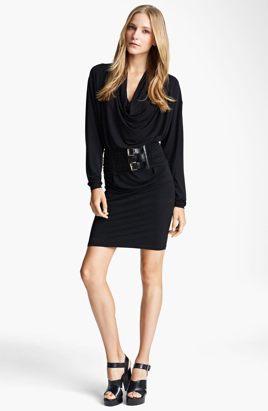 Main Image - Michael Kors Cowl Neck Matte Jersey Dress