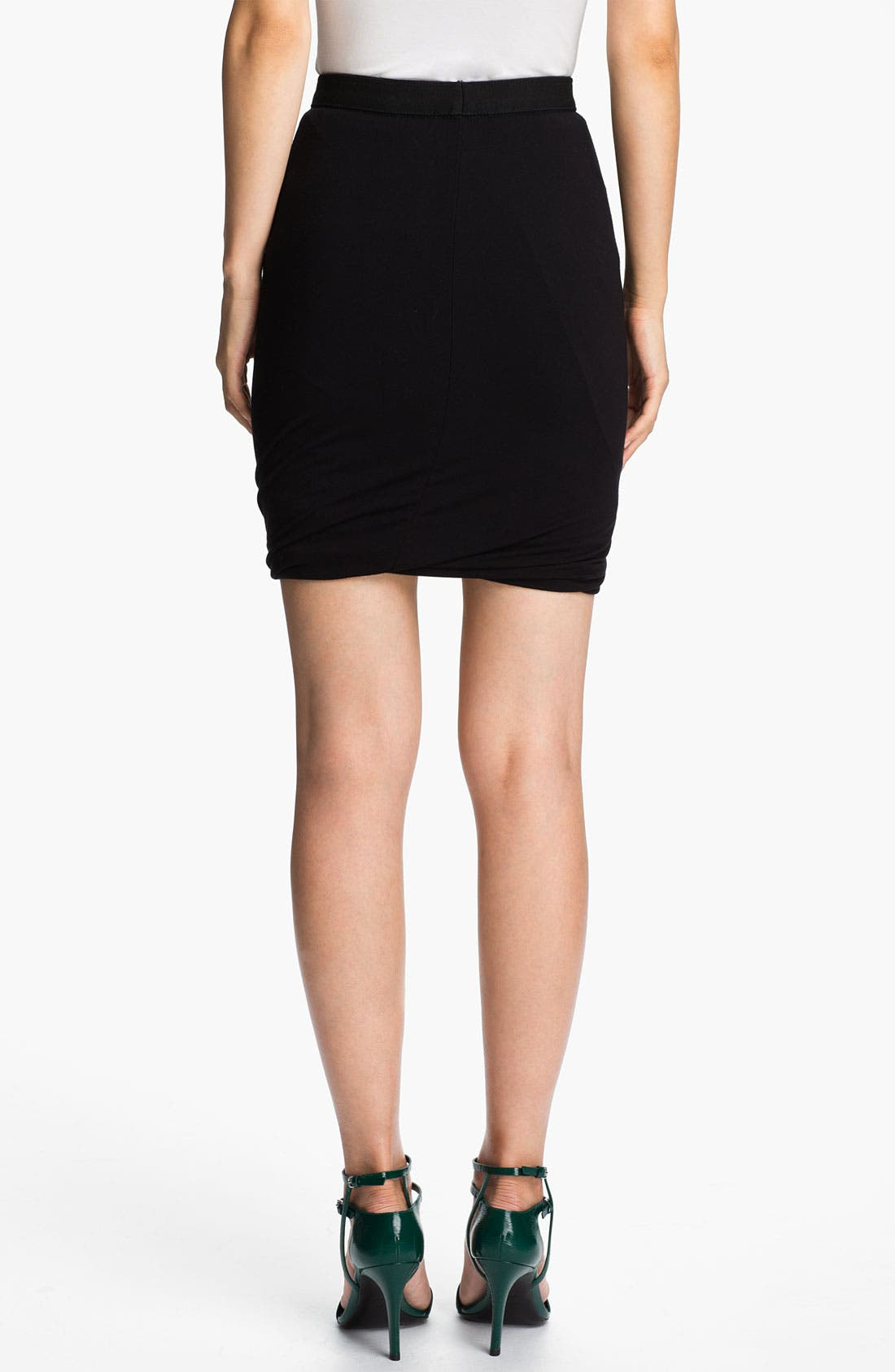 Alternate Image 2  - T by Alexander Wang Twisted Hem Skirt