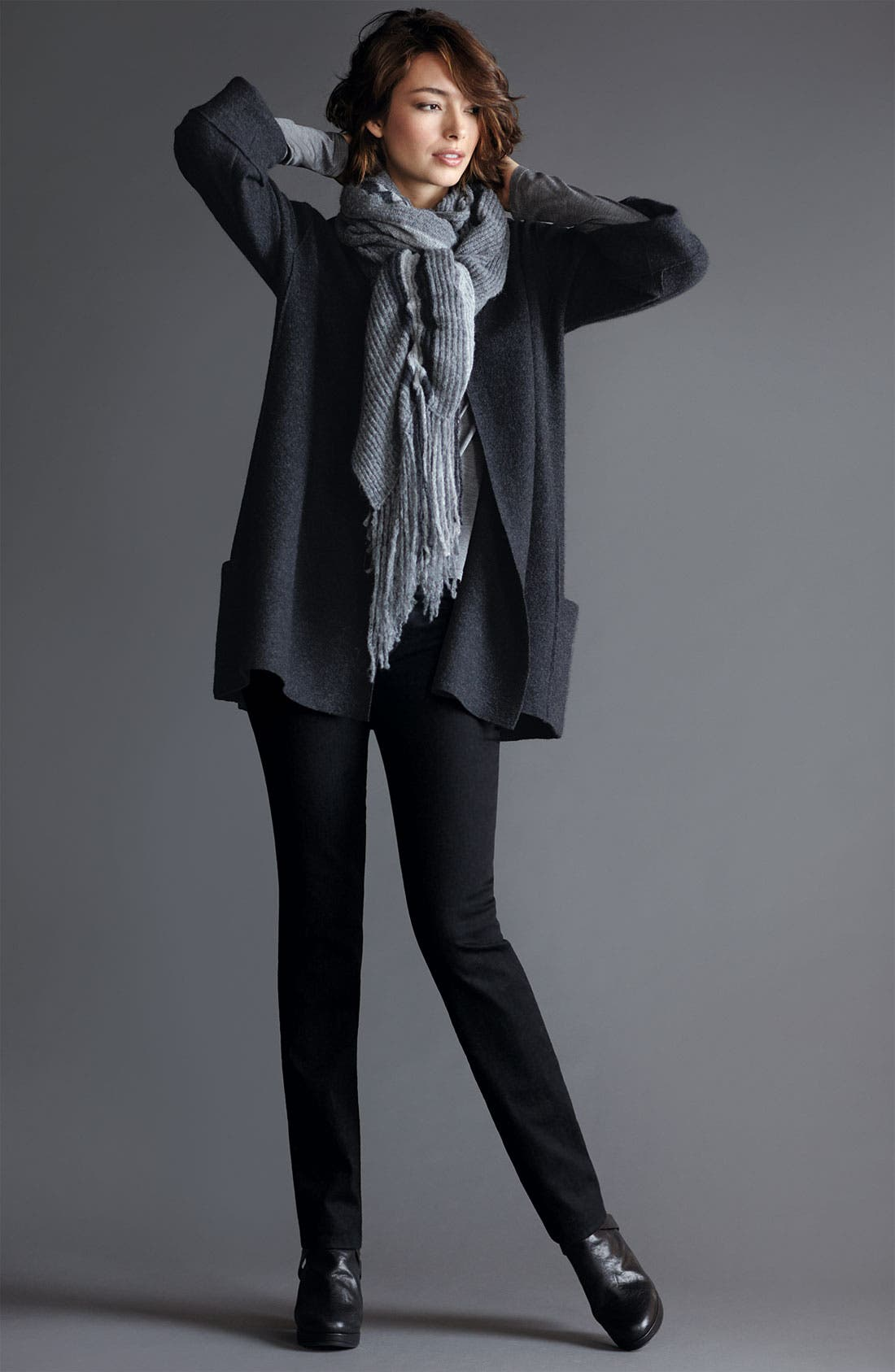 Alternate Image 4  - Eileen Fisher Lightweight Boiled Wool Jacket