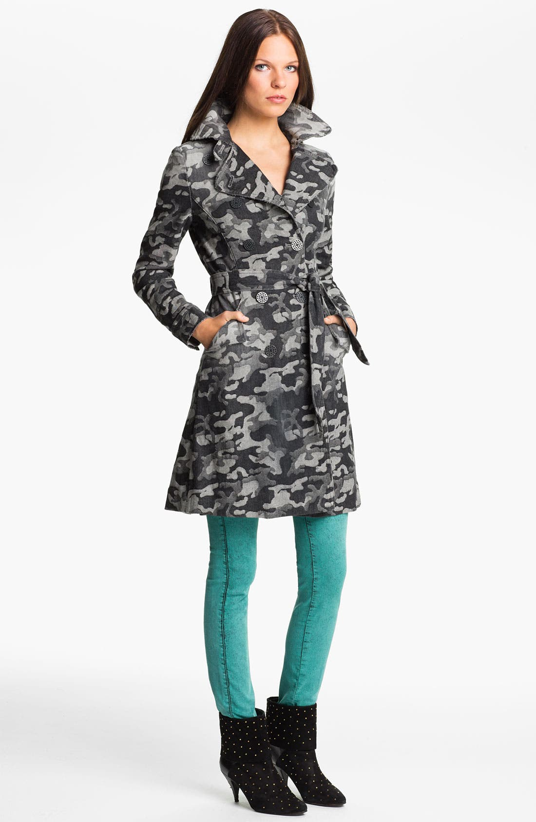 Main Image - Kelly Wearstler 'Chameleon' Camo Print Trench Coat