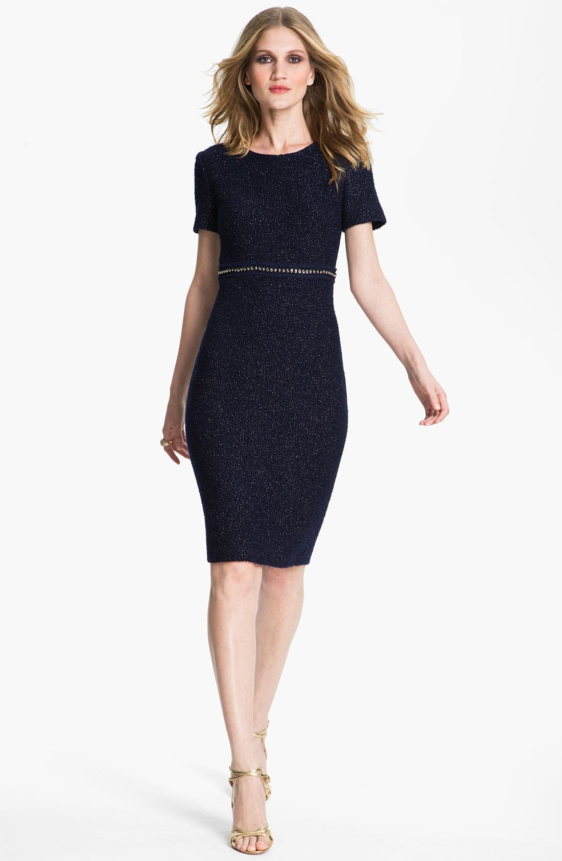 Main Image - St. John Collection Shimmer Bouclette Dress