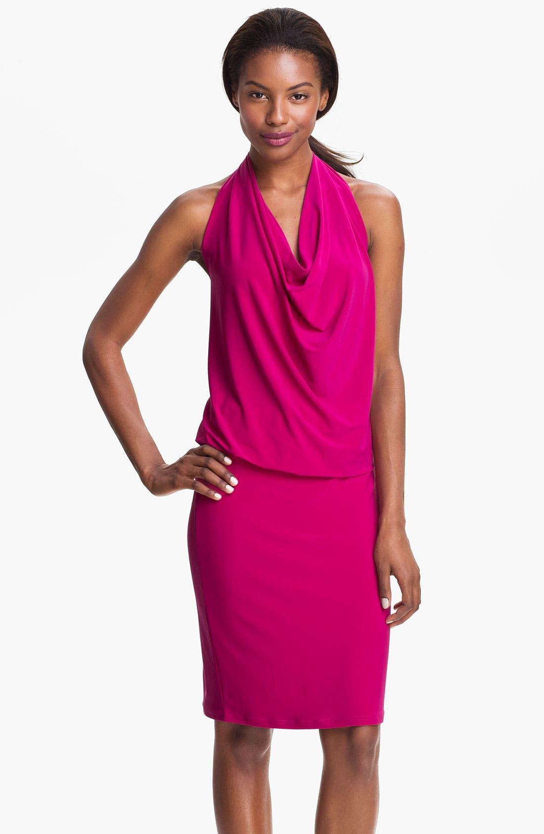Main Image - Abi Ferrin 'Fantasia' Cowl Neck Jersey Halter Dress