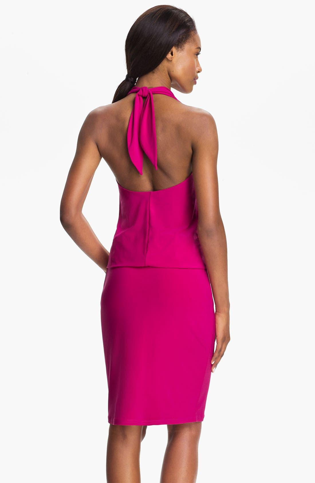 Alternate Image 2  - Abi Ferrin 'Fantasia' Cowl Neck Jersey Halter Dress