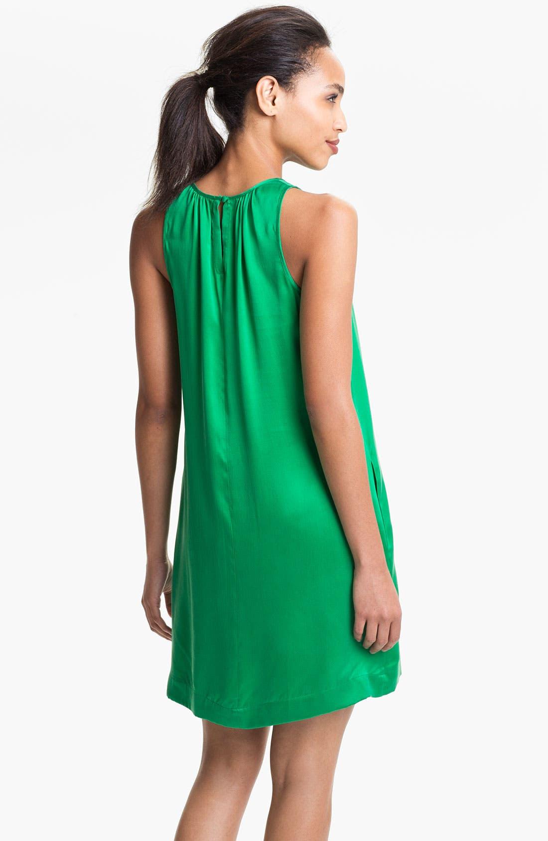 Alternate Image 2  - Max & Mia Sleeveless Silk Dress
