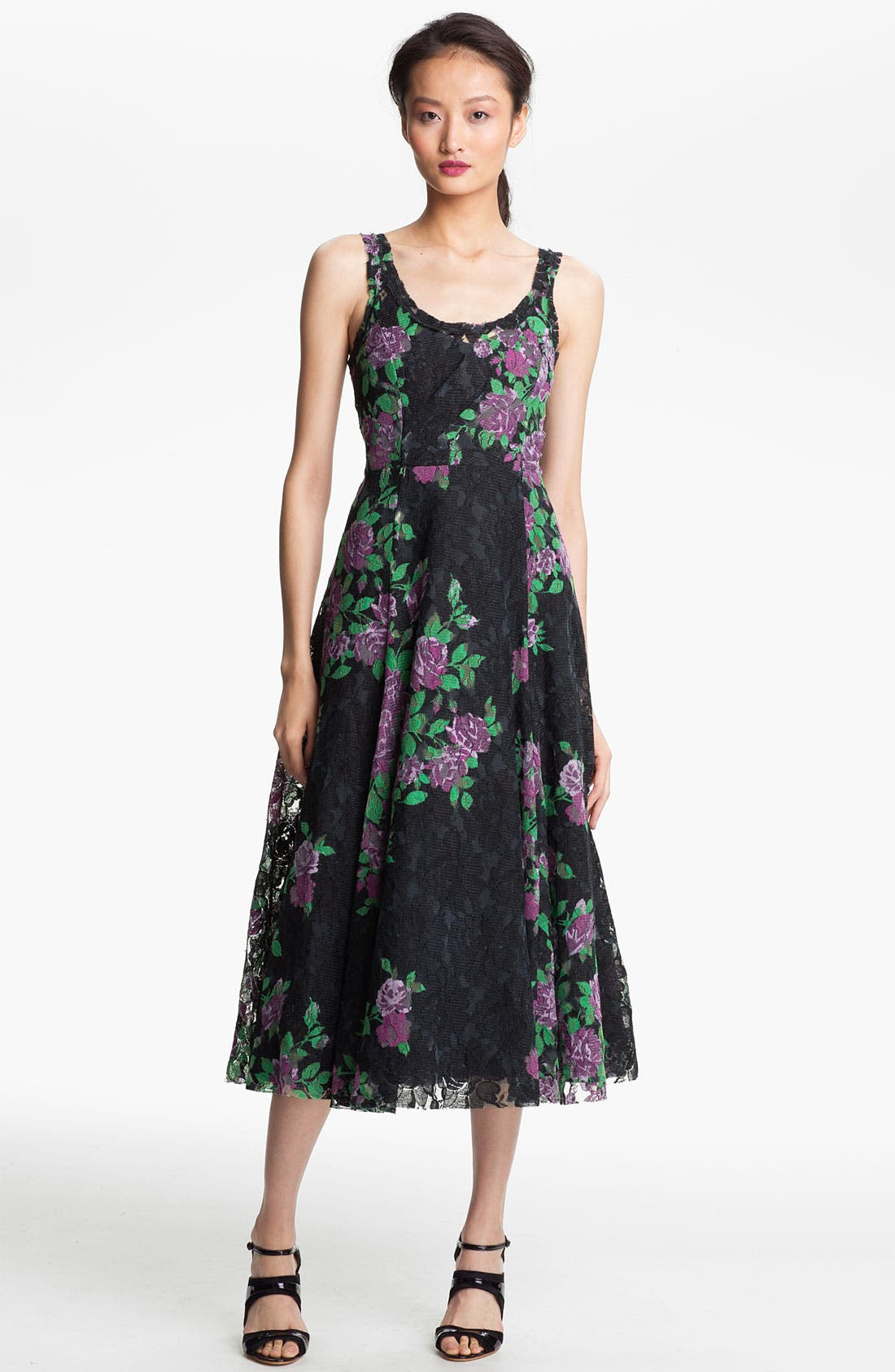 Alternate Image 1 Selected - Tracy Reese Print Lace Dress