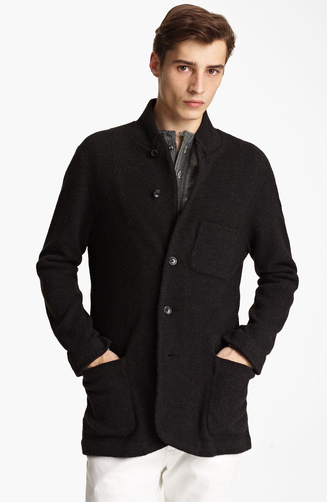 Alternate Image 1 Selected - Grayers Wool Blend Button Cardigan